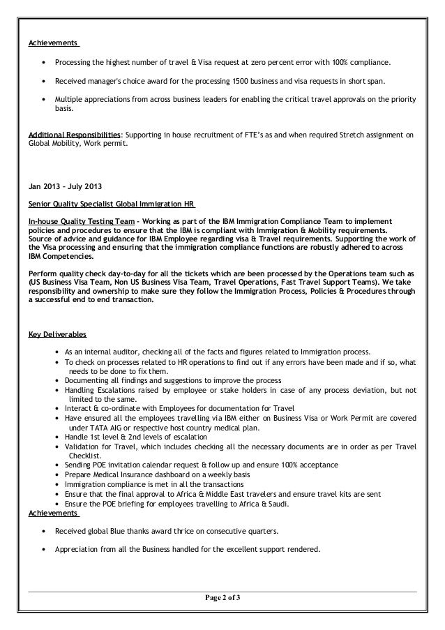 global immigration mobility final resume 2015