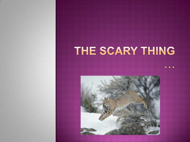 The scary thing …<br />