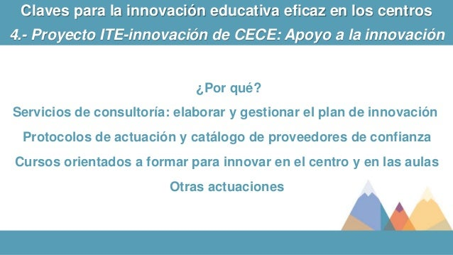 ¿Por qué? Servicios de consultoría: elaborar y gestionar el plan de innovación Protocolos de actuación y catálogo de prove...