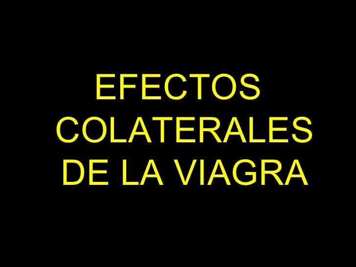 EFECTOS COLATERALES DE LA VIAGRA