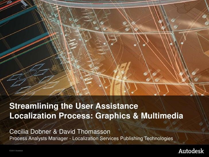 Streamlining the User Assistance<br />Localization Process: Graphics & Multimedia<br />Cecilia Dobner & David ThomassonPro...