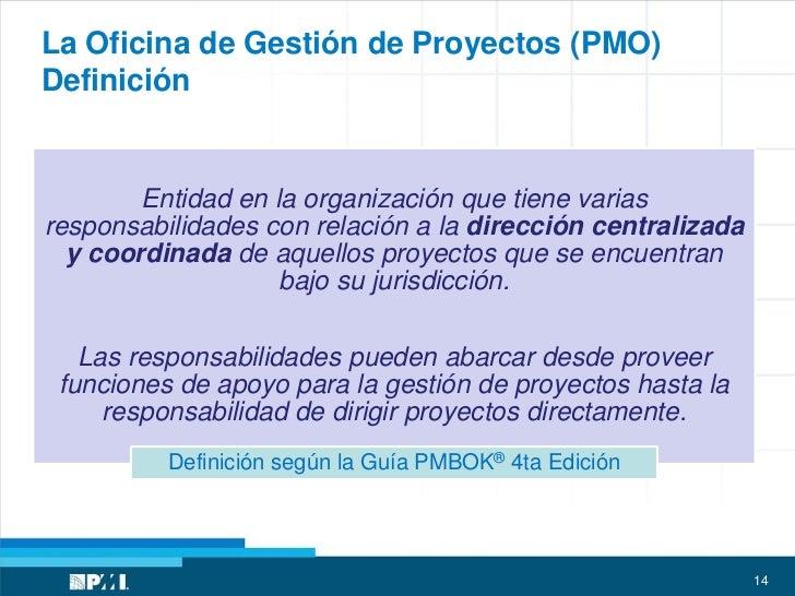 Experiencias en la implementaci n de la pmo cecilia boggi for Practica de oficina definicion