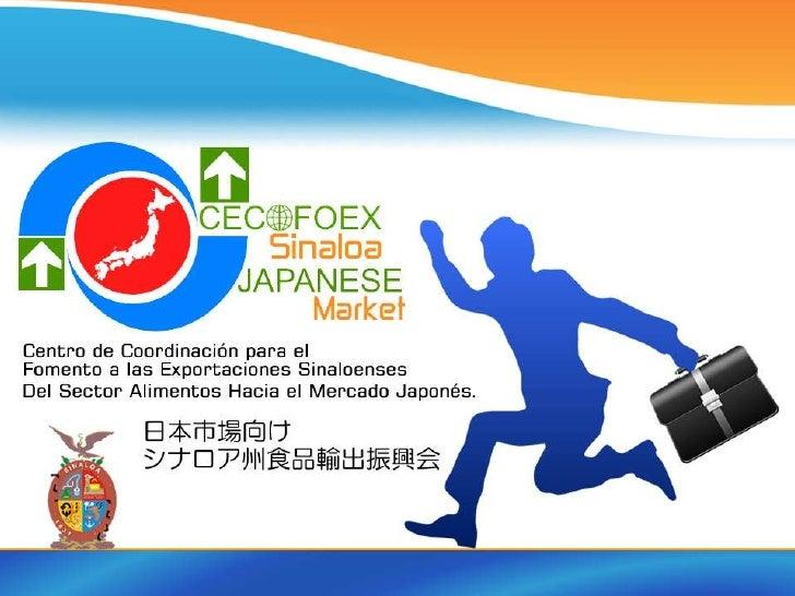 Problemática a resolver a través de la Iniciativa« CECOFOEX SINALOA JAPANESE MARKET »   イニシアチブを通じて解決すべき問題