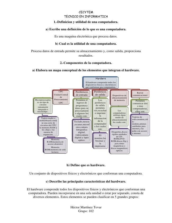 CECYTEM                                   TECNICO EN INFORMATICA                         1.-Definicion y utilidad de una c...