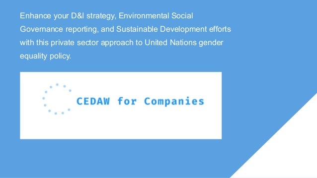 Enhance your D&I strategy, Environmental Social Governance reporting, and Sustainable Development efforts with this privat...