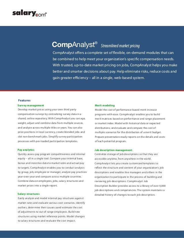Salary com CompAnalyst Suite
