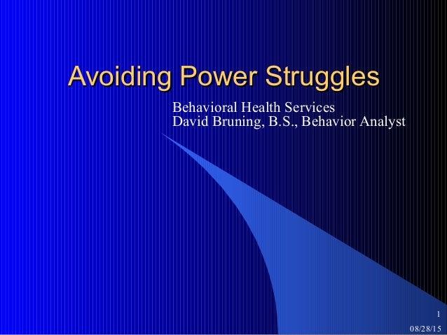 bhs avoiding power struggles