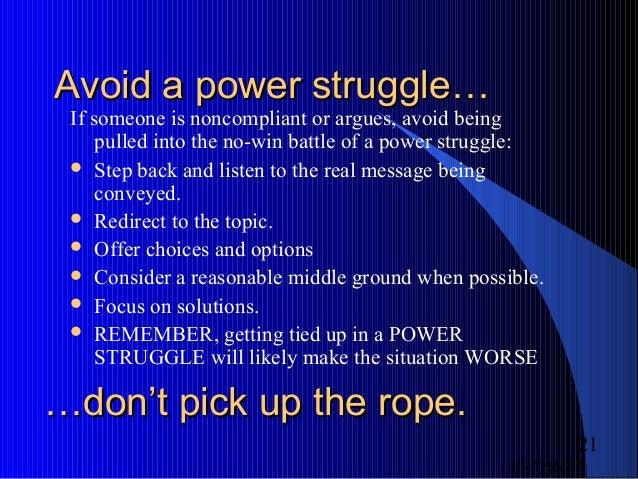 BHS_Avoiding Power Struggles