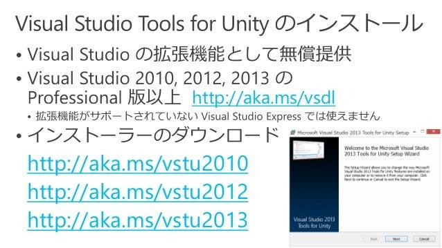 Microsoft × Unity - Visual Studio Tools for Unityを使った
