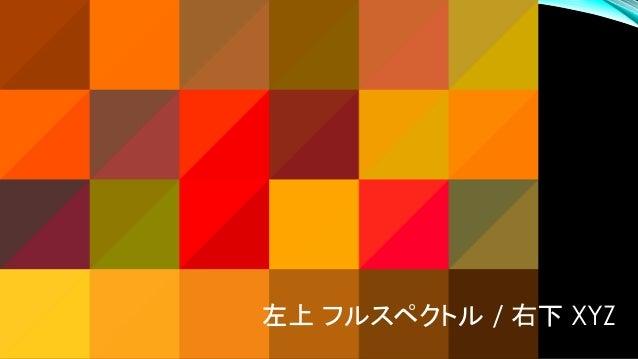左上 フルスペクトル / 右下 sRGB
