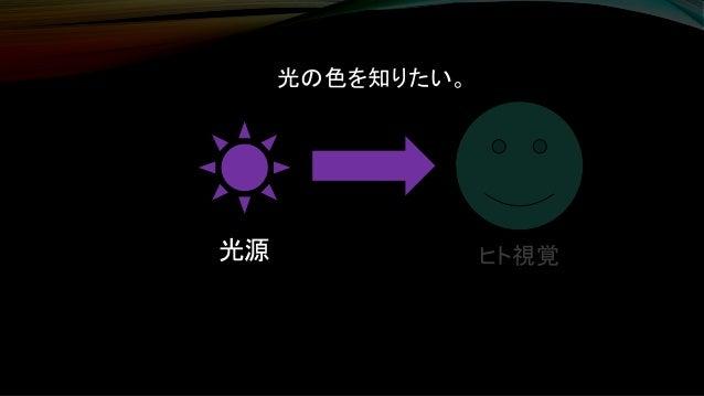 ヒト視覚光源 光の色を知りたい。