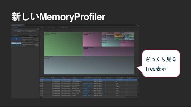 新しいMemoryProfiler メモリの状況確認 出来る Memory Map表示