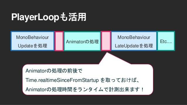 PlayerLoopも活用 https://github.com/wotakuro/MainLoopProfilingSample