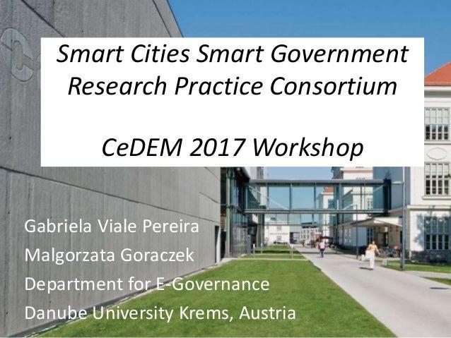 Donau-Universität Krems. Centre for E-Governance. Gabriela Viale Pereira Malgorzata Goraczek Department for E-Governance D...