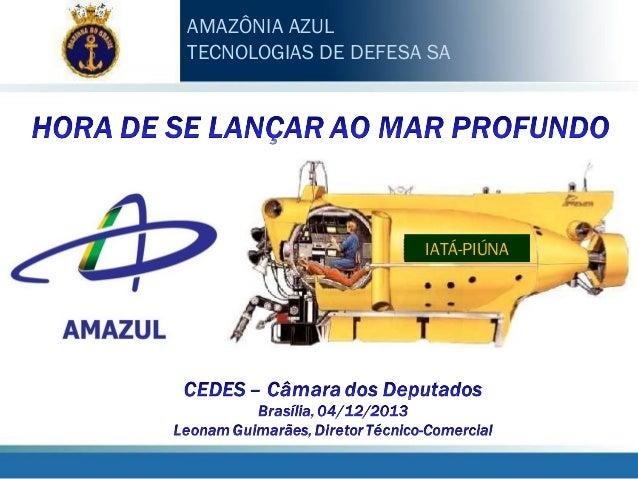 AMAZÔNIA AZUL TECNOLOGIAS DE DEFESA SA  IATÁ-PIÚNA