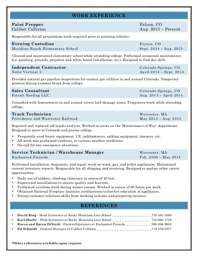 SlideShare  Lineman Resume