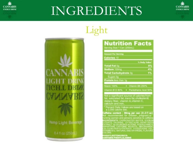 Wonderful INGREDIENTS Light; 8. Cannabis Energy Drink ... Pictures Gallery