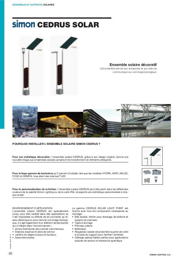 ENSEMBLES ET SUPPORTS SOLAIRES  CEDRUS SOLAR  Ensemble solaire décoratif Cet ensemble permet aux entreprises et aux villes...