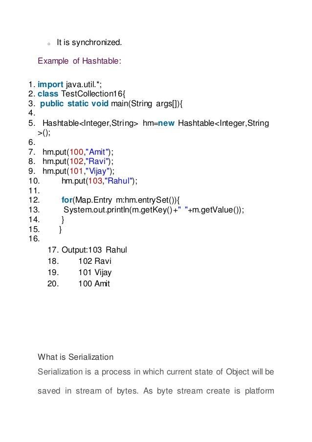 Core Java For Hadoop