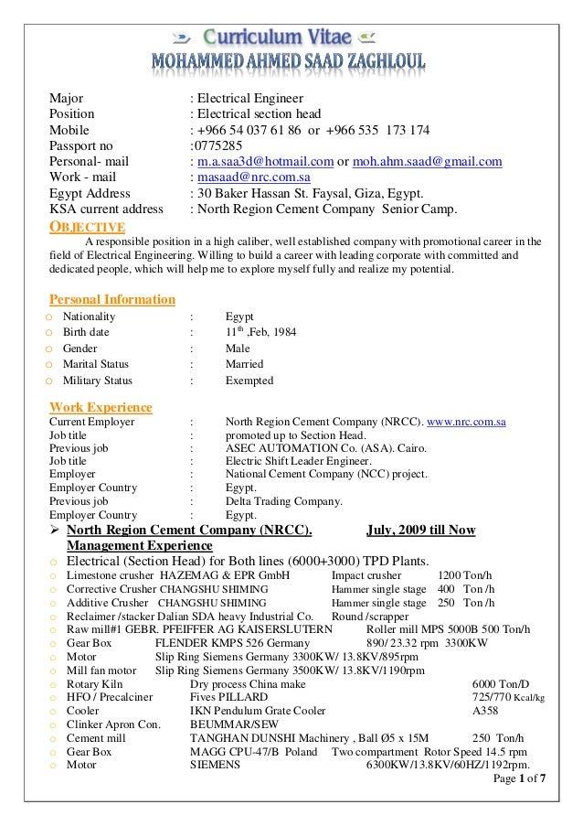 mohamed saad resume