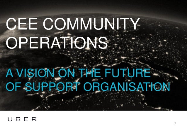CEE COMMUNITY OPERATIONS A VISION ON THE FUTURE OF SUPPORT ORGANISATION 1