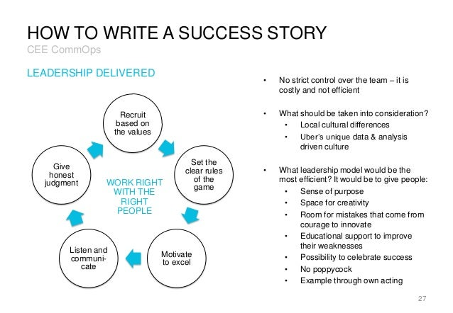 how to write a success story ppt viewer