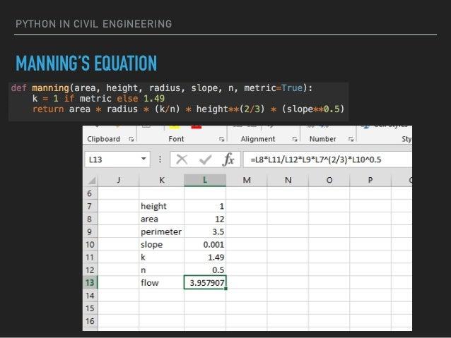 Python in Civil/Environmental Engineering