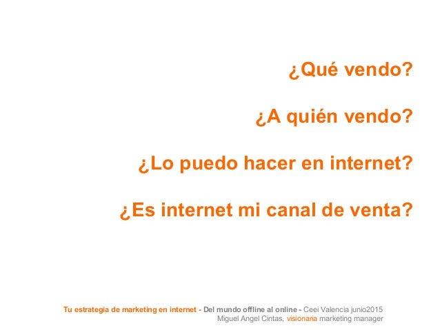 Tu estrategia de marketing en internet ceei valencia - Internet en valencia ...