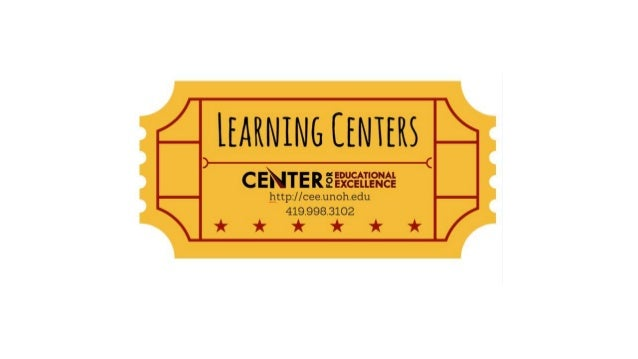 What are learning centers? Center 1 Center 2 Center 3 Center 4 Center 5 WHAT'S AT WORK HERE? • Small groups (Alvermann, Di...