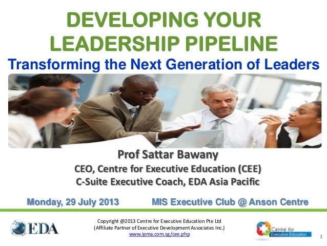 Copyright @2013 Centre for Executive Education Pte Ltd (Affiliate Partner of Executive Development Associates Inc.) www.ip...
