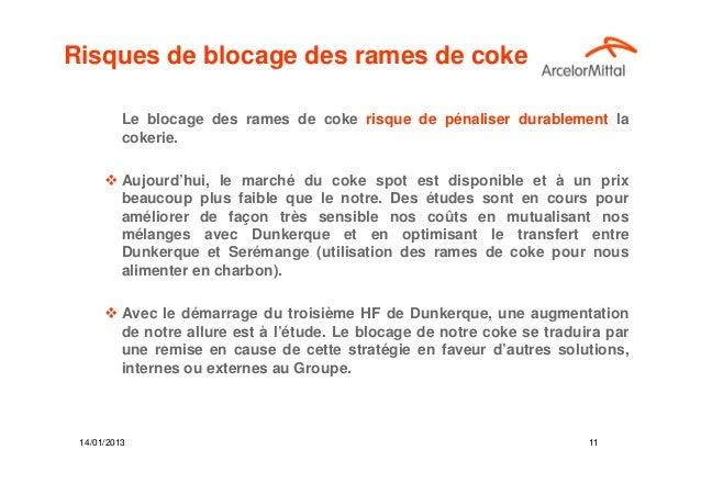 Risques de blocage des rames de coke          Le blocage des rames de coke risque de pénaliser durablement la          cok...