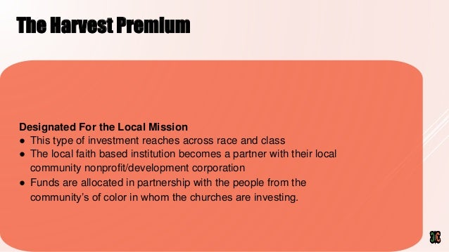 Community Equity Fund/  faith and finance Slide 3