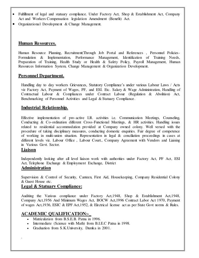 resume for hr ideas sle resume for hr assistant 28
