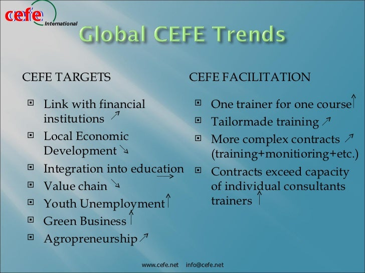cefecefe   International CEFE TARGETS                           CEFE FACILITATION     Link with financial                ...