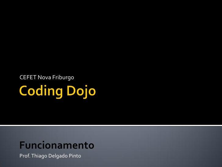 CEFET Nova FriburgoFuncionamentoProf. Thiago Delgado Pinto