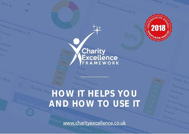 HOW IT HELPS YOU AND HOW TO USE IT www.charityexcellence.co.uk