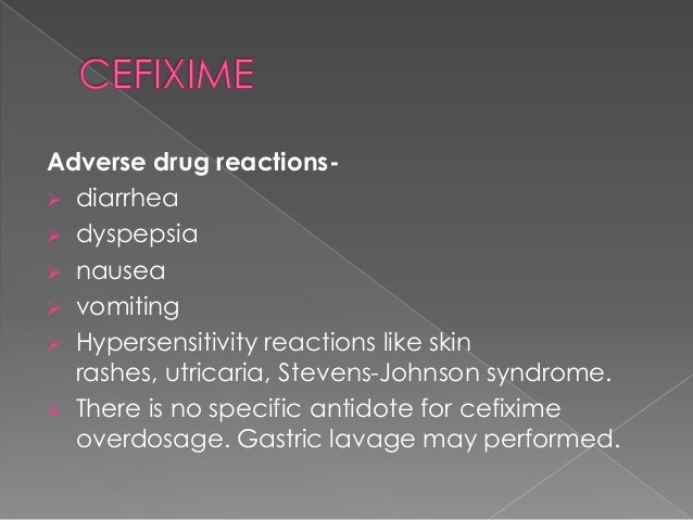 Cefixime Dosage Gonorrhea