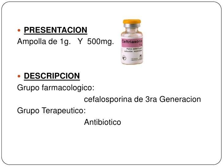 Ceftriaxona dilucion