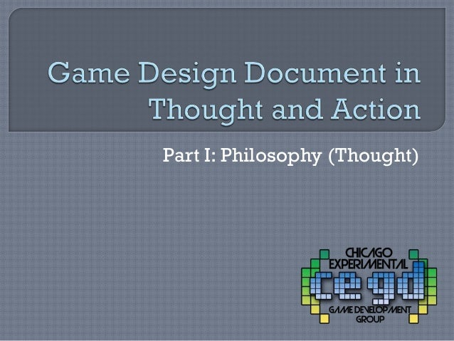 Part I: Philosophy (Thought)