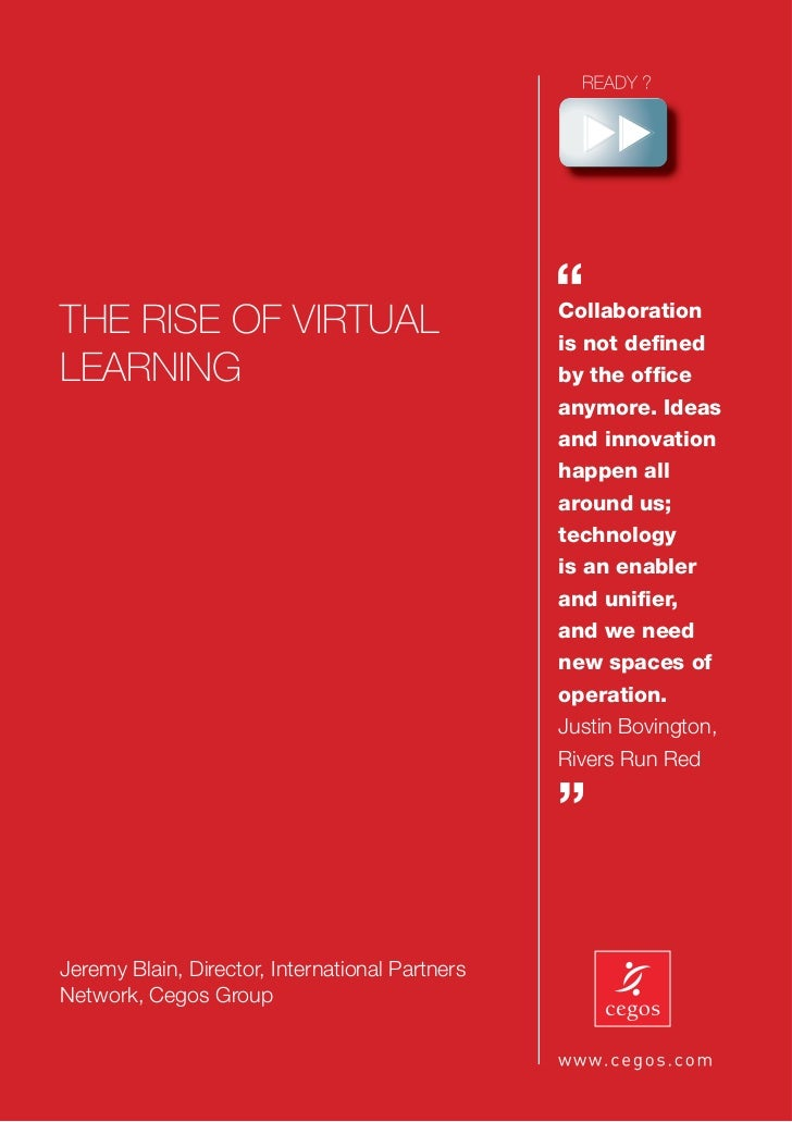 """THE RISE OF VIRTUAL                                                 """"                                                 Coll..."""