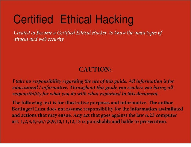 Certified Ethical Hacking - Book Summary