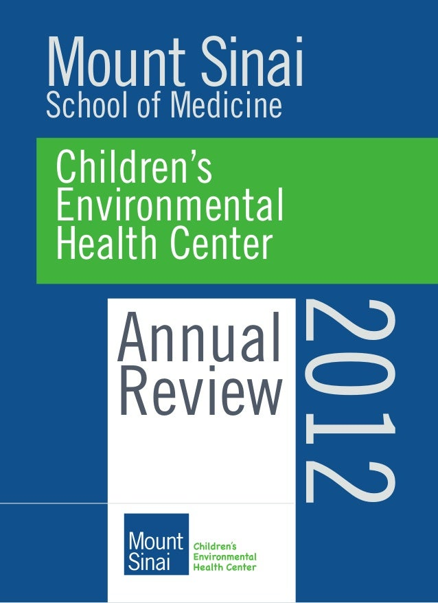 Cehc annual report 2012 mount sinaischool of medicine childrens environmental health center annual review 2012 malvernweather Images