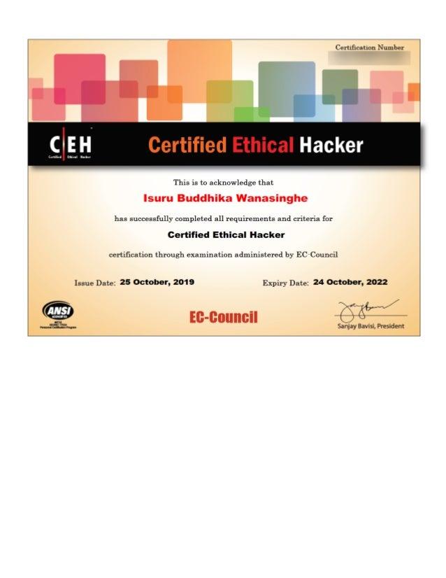 ceh certification slideshare version upcoming