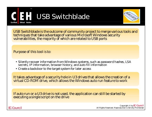 Ce hv6 module 41 hacking usb devices