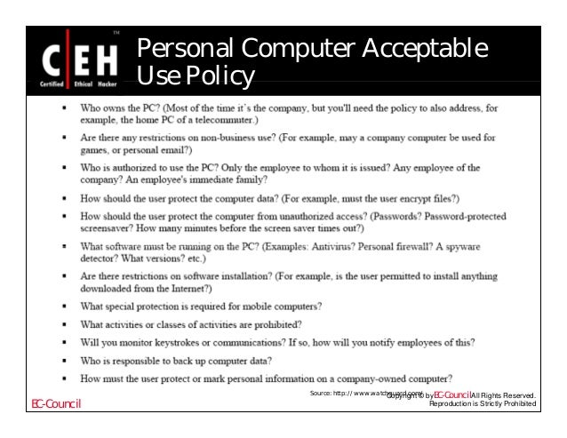 Company computer use policy template choice image for Computer security policy template
