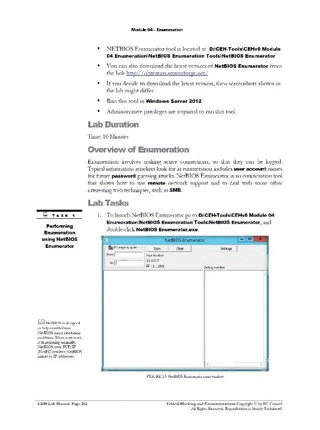 Ceh v8 labs module 04 enumeration