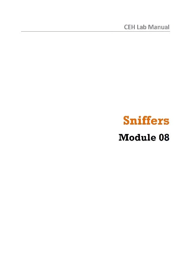 CEH Lab Manual Sniffers Module 08