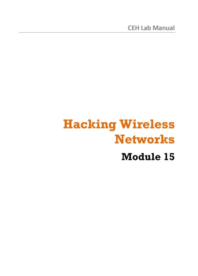 CEH Lab Manual  Hacking Wireless Networks  Module 15
