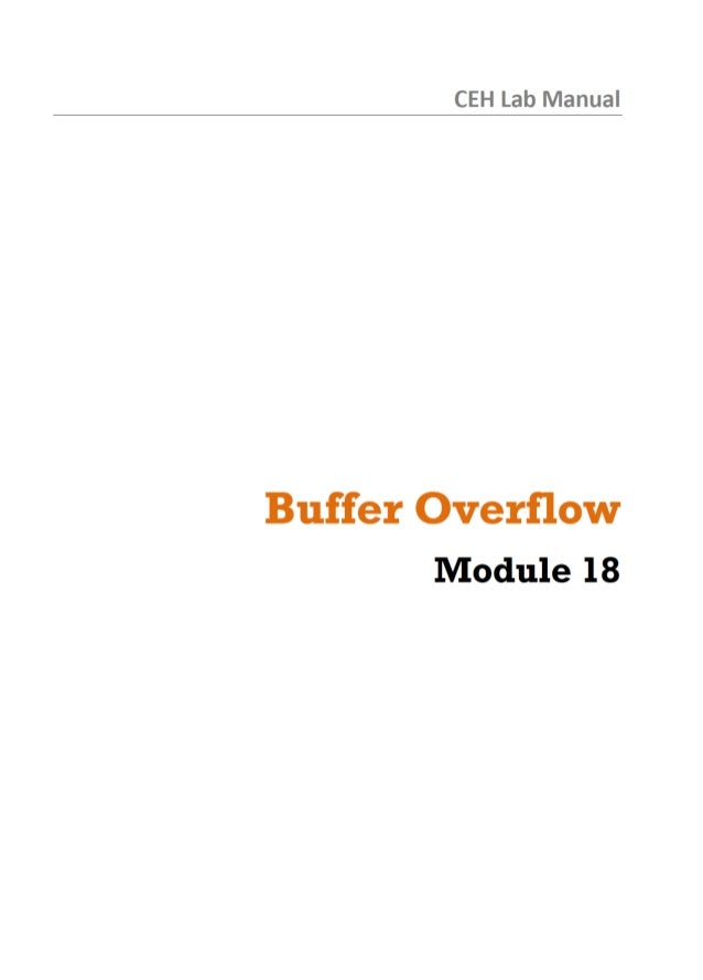 CEH Lab Manual  Buffer Overflow Module 18