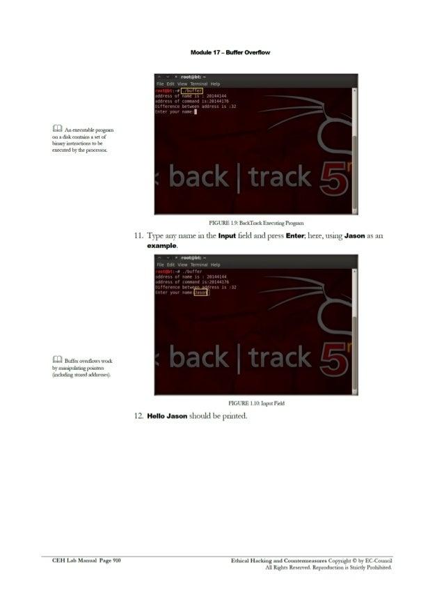 ceh v8 labs module18 buffer overflow ceh v10 lab manual ceh v10 lab manual